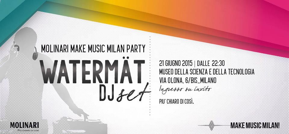 After Show Make Music Milan @ Museo della Scienza e della Tecnologia