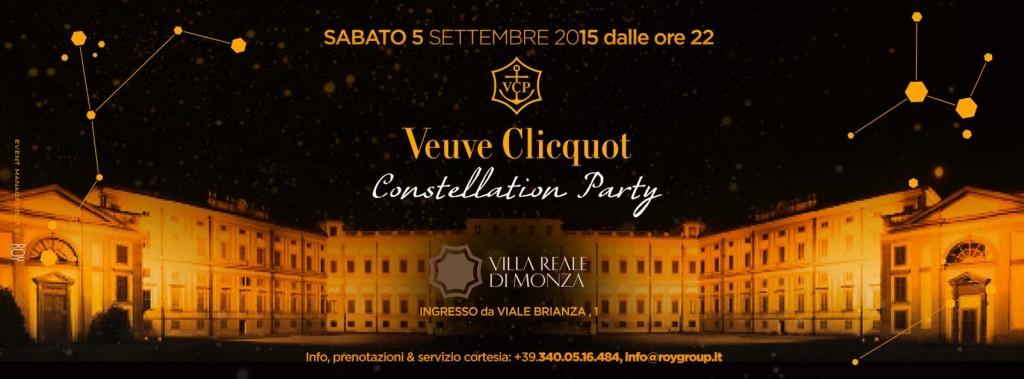 """VEUVE CLICQUOT """"CONSTELLATION PARTY"""" – VILLA REALE DI MONZA"""