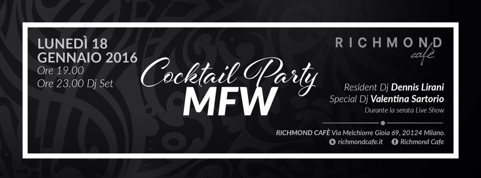 MFW16 Cocktail Party RICHMOND Cafè