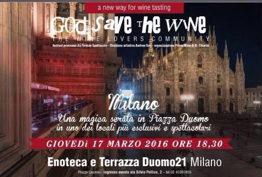 "17.03  ""God Save The Wine"" Enoteca e Terrazza Duomo 21"