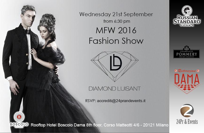 21.09 MFW 2016 – DIAMOND LUISANT FASHION SHOW