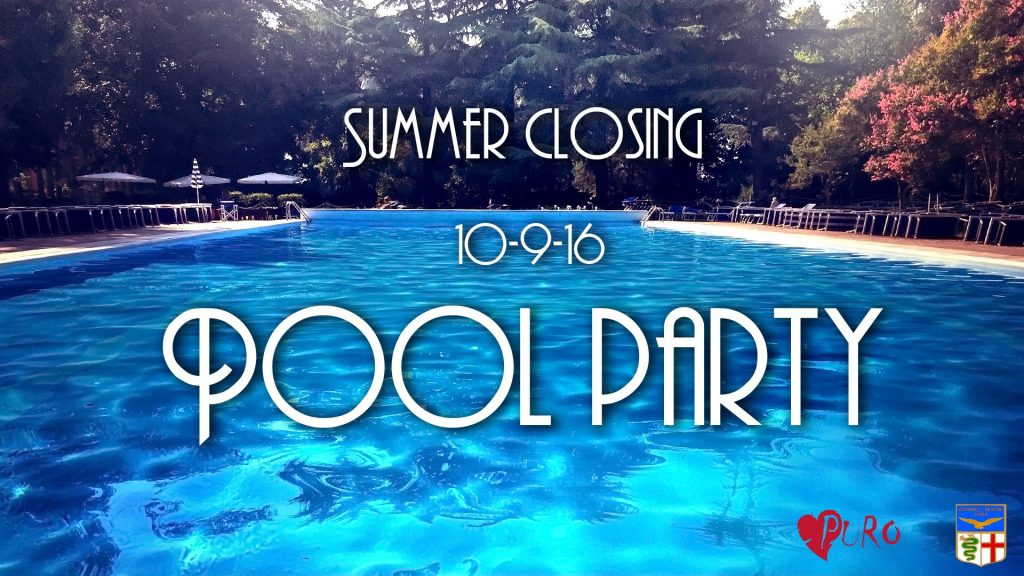 10.09 Summer Closing Pool Party