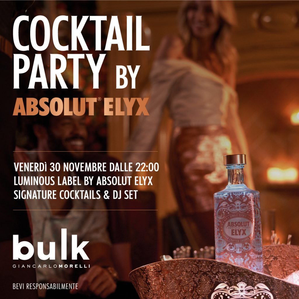 30.11    Luminous Label Special Edition by Absolut Elyx @ Bulk Mixology